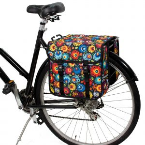BikyBag Classic - Bicycle Double Panniers (Folklore Flowers)
